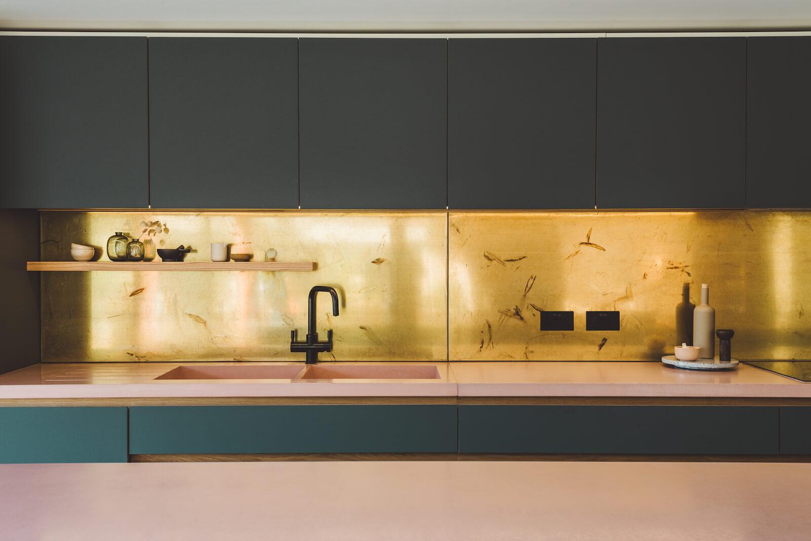 Marine parade - bespoke handmade kitchen, birch plywood, laminate, concrete worktop, whitstable, Kent, London